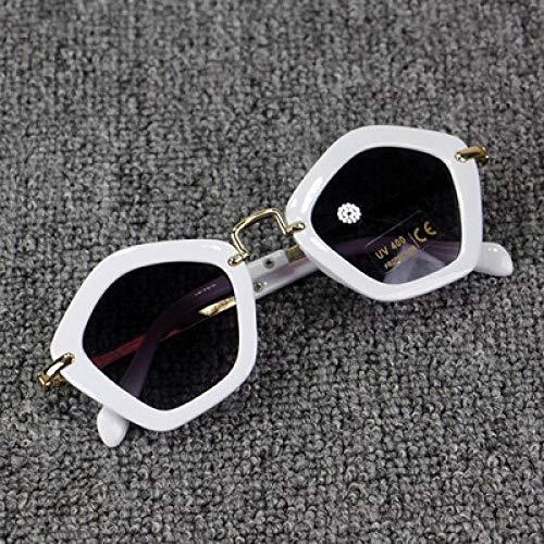 Moda Gafas De Sol Gafas De Sol De Moda para Niños Polígono Niños Niños Niñas Gafas De Sol Sombrillas Gafas De Sol Gafas Gafas Blanco