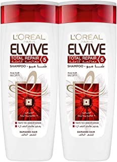 L'Oreal Paris Elvive Total Repair 5 Shampoo - Pack of 2 Pieces (2 x 400ml)