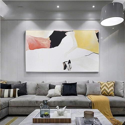 exclusivo QIAISHI QIAISHI QIAISHI HD Moderno Pintura de la Lona zapatos de la Danza del Arte Abstracto de la Parojo Imagen para Sala de Estar decoración del hogar Carteles y Estampados  calidad oficial