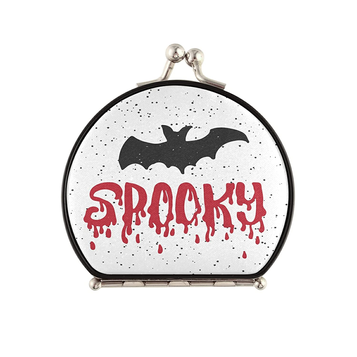OcuteO Compact Round Makeup Mirror Opening large release sale famous Fu Bat Party Halloween Spooky