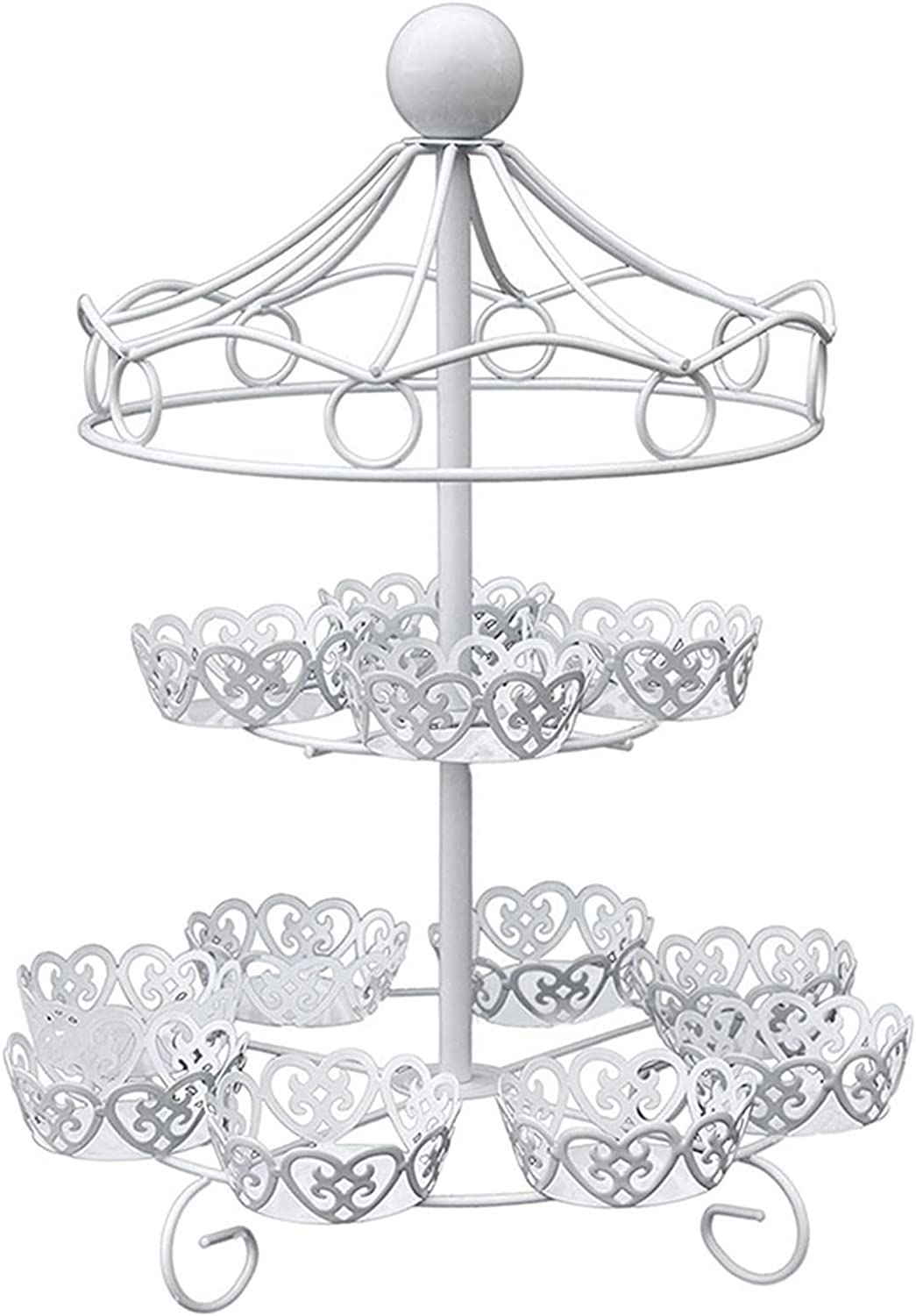 2 Tier Cake Stand Cupcake Display Max Seasonal Wrap Introduction 55% OFF Dessert Suitable fo Tray