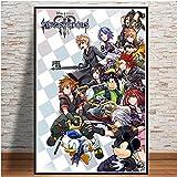 AJleil Puzzle 1000 Piezas Kingdom Hearts Video Game Popular Anime Cartoon Art Imagen Puzzle 1000 Piezas paisajes Rompecabezas de Juguete de descompresión intelectual50x75cm(20x30inch)