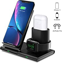 Seneo 3 in 1 Wireless Charger, Apple Watch and AirPods Charging Dock Station, Magnetic Design,Nightstand Mode for iWatch Series 5/4/3/2, 7.5W Fast Charging for iPhone 11/11 Pro Max/XR/XS Max/Xs/X/8/8P