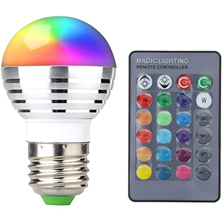 Supernight 3w Rgb Led Color Changing Light Bulb Lamp With Wireless Remote Controller Led Household Light Bulbs Amazon Com