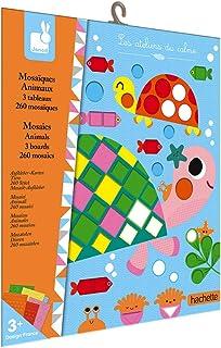 Janod - Coffret Mosaïques en Mousse Animaux - Les Ateliers du Calme - Kit Loisir Créatif Premier âge - Apprentissage Motri...