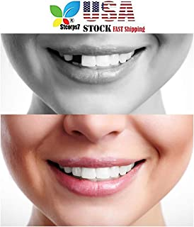 Denture Repair Kit, STCORPS7 Temporary Tooth Repair Kit Teeth and Gaps FalseTeeth Solid Glue Denture Adhesive White DIY Make 12 Teeth