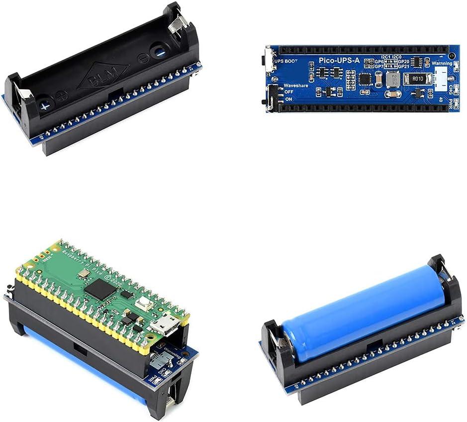 Uninterruptible Power Supply UPS Module for Raspberry Pi Pico Monitoring Li-po Battery I2C Interface 5V Recharge Voltage ups module uninterruptible power supply for raspberry pi pico expansion board