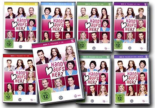 Hand aufs Herz - Die komplette Serie, Box 1-8, Folgen 1-234 [24 DVDs]