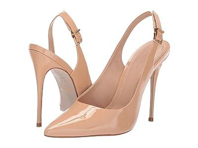 Massimo Matteo Sling Back Pump (Nude Patent) High Heels