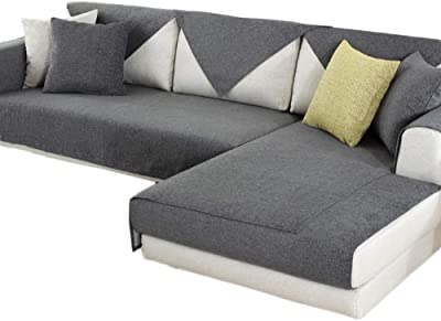 HInmdLndsj Contenido 100% algodón insípido Fundas de sofá ...