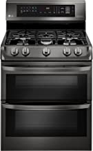 LG LDG4315BD 6.9 Cu. Ft. Black Stainless Double Oven Gas Range