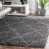 nuLOOM Trellis Cozy Soft & Plush Shag Rug, 6' 7' x 9', Grey