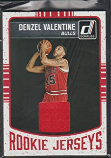 2016-17 Donruss Denzel Valentine Bulls Rookie Jersey Basketball Card #43