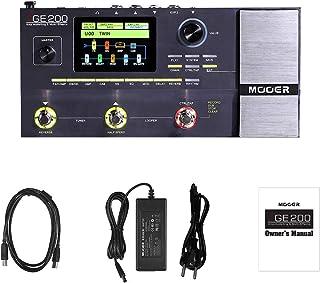 Muslady MOOER GE200 Modelado de amplificadores y efectos múltiples Pedal 55 26 Modelos de altavoces de cabina 70 Efectos 52s Patrones de batería Looper 40 10 Ritmos de metrónomo