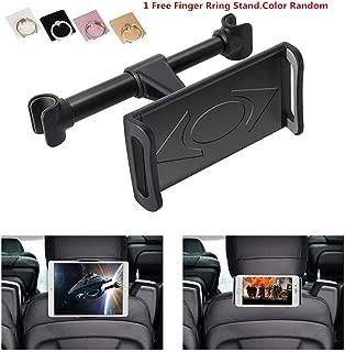 KURAMI Car Headrest Mount, 360°Rotated Car Headrest Bracket Tablet Headrest Holder Compatible with 4