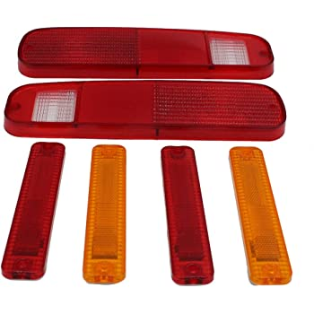 GSKMOTOR 6 PCS Tail Light and Side Fender Kit for 1973-1979 FORD F-150 F150 F250 Truck 1978-1979 Bronco