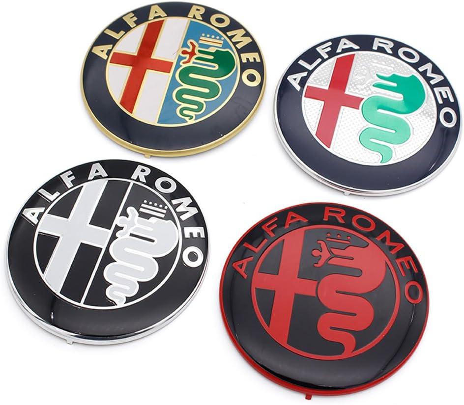Vendita Speciali Nero Bianco Colore 74mm 7,4 centimetri ALFA ROMEO Car Logo emblema distintivo adesivo per Mito 147 156 159 166