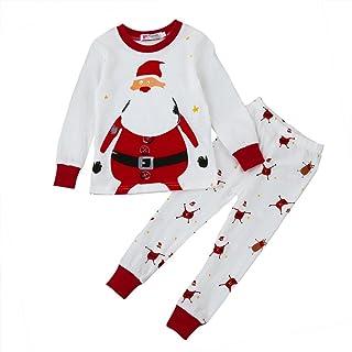 Christmas Baby Clothes, Honestyi Christmas Clothes Newborn Baby Boy Girl Christmas Home Fashions Pyjamas Top + Pants Set
