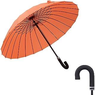 SHENTIANWEI Golf Umbrella Fpr Women Men Extra Large Oversize Large Canopy Ergonomic Handle Met Water Begin Bloom (Color : Orange, Size : Free)