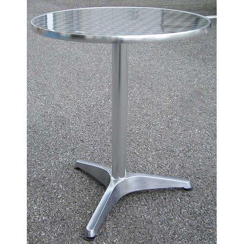 【沖縄・離島不可】アルミテーブル 32618_YTS1-60(丸テーブル) 600×700×600