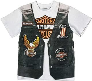 HARLEY-DAVIDSON Little Boys' Printed-On Motorcycle Vest Short Sleeve Tee 1072625
