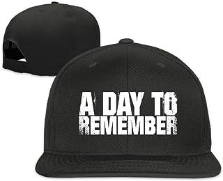 A Day To Remember Logo Unisex Adjustable Flat Bill Hat Baseball Cap Black