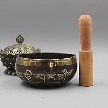 huapin Tibetan Meditation Yoga Singing Bowl Set With Mallet Silk Cushion - For Meditation, Chakra Healing, Prayer,Yoga, and Mindfulness