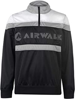 Official Brand Airwalk Logo Quarter Zip Track Jacket Mens Skate Clothing Top