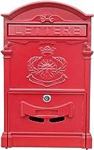 Brievenbus Brievenbus Postvak Villa Mail Box Outdoor Creatieve Smeedijzeren Lock Muur Retro Waterdichte Grote Krant Doos P...