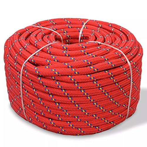 Festnight Cuerda Marina - Color de Rojo Material de Polipropileno, 6mm x 100m