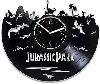 Clock Jurassic Park Vinyl Record Clock Jurassic World Wall Clock Modern Movie Clock Jurassic Park Vinyl Wall Clock Dinosaur Xmas Idea For Fan Jurassic World Birthday For Man Jurassic World Wall Clock
