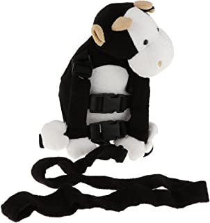 HOMYL Baby Toddler Walking Safety Harness Backpack with Leash Child Kid Assistant Strap - Black Cow