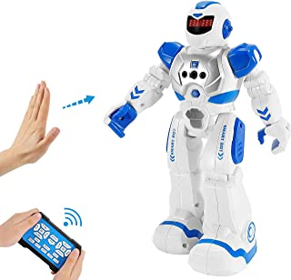 Vimpro RC Robot Toy for Kids Boys,Smart Programmable Remote Control Robots Infrared Sensing RC Robot Gesture Sensing Robot Intelligent Toy Gift for Boys Girls