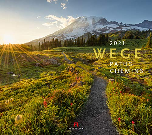 Wege Kalender 2021, Wandkalender im Querformat (54x48 cm) - Landschaftskalender mit traumhaften Pfaden in der Natur