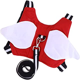 Prettyia Baby Safety Walking Harness - Child Toddler Anti-Lost Belt Harness with Leash - Angle-Red, as described