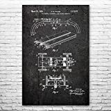 Patent Earth RC Slot Car Poster Print, RC Racer Gift, Hobby Shop Art, Hobbyist Gifts, Toy Store Decor, Model Maker Gift, Retro RC Car