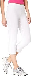 Solid White Capri Leggings