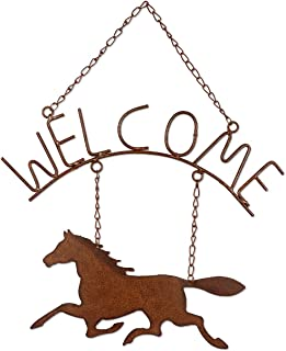 Sunset Vista Designs Horsing Around Welcome Sign, 16-1/2-Inch Long by 14-Inch Wide