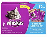 Whiskas Choice Cuts Food for Cats & Kittens, Seafood - 12 - 3 oz pouches