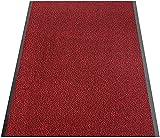 Alfombra de Entrada Ordinaria Personalizada de Gran tamaño Entrada Restaurante Empresa Muy Absorbente + Lavable 80x90 cm-60 x 90 cm_Negro Rojo