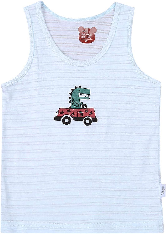 Yingyingni Toddler Little Boys Organic Cotton Tank Tops Cool Comfort Crewneck Undershirt