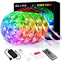 GLIME 18m Color Changing 5050 Lights for Bedroom with Remote