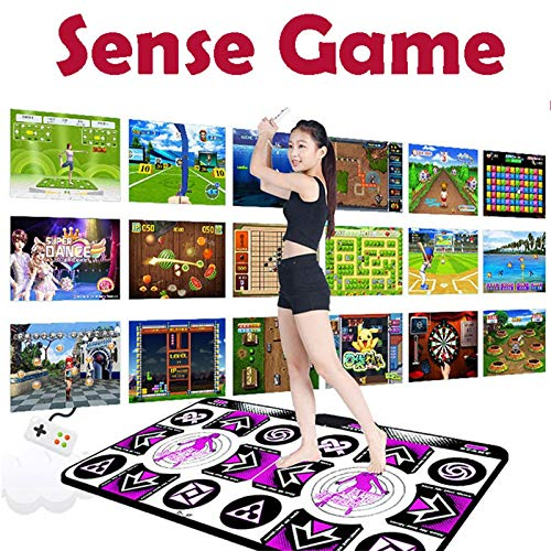 HUANGGUA Double User Dance Mats Non-Slip Dance Step Pads Sense Game English for PC TV Game Accessories