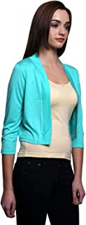 Espresso Women's Polyester Viscose Open Cardigan Shrug