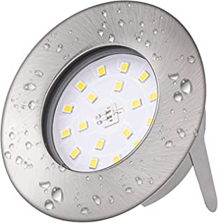 Spots LED Encastré Blanc Neutre 4500K Ketom IP44 Spot led Encastrable 5W 500LM 230V Spot Encastrables Led Métal Nickel Non...