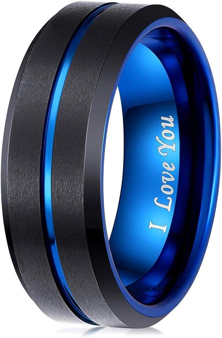 LaurieCinya Spring new work Tungsten Carbide Ring Mail order cheap Men Engagem Women Wedding Band