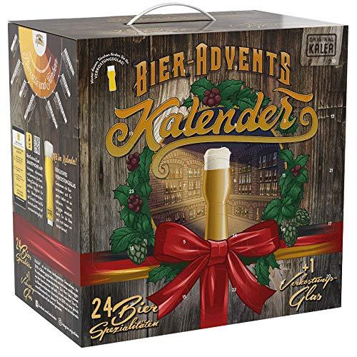 Kalea Bier-Adventskalender 2020 | 24 Deutsche Bier-Spezialitäten und 1 Verkostungsglas | 24 x 0.33 l Flaschen | Geschenkidee zur Vorweihnachtszeit
