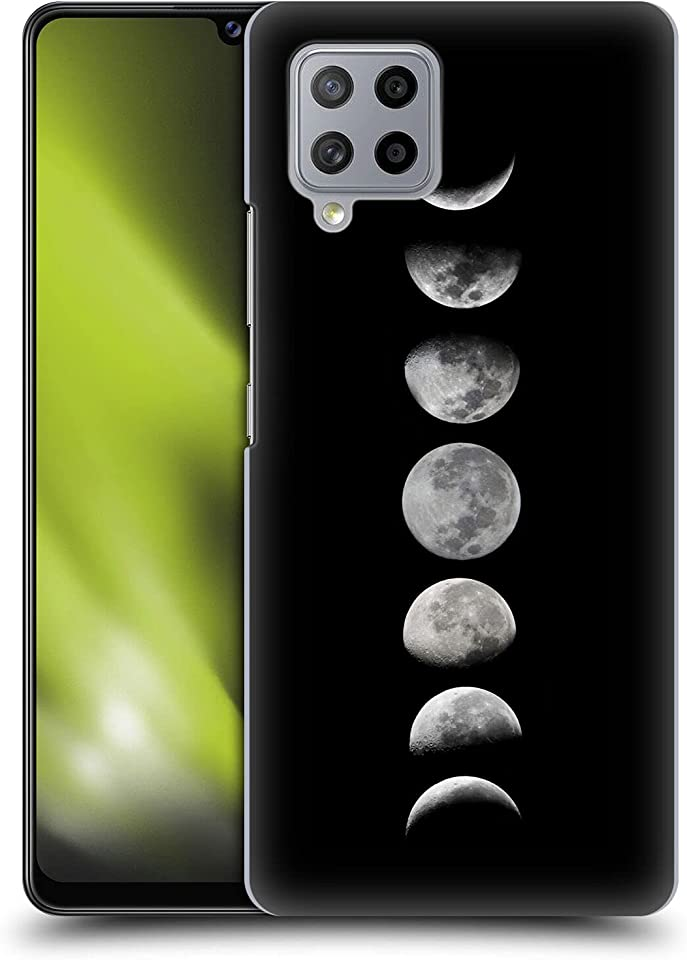 Head Case Designs Officially Licensed Efty Phases of The Moon Space Hard Back Case and Matching Wallpaper Compatible with Samsung Galaxy A42 5G (2020)