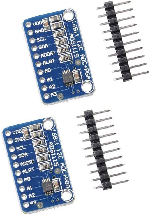 Ximimark 2Pcs ADS1115 Analog-to-Digital Converter 16 Bit 4 Channel ADC PGA Development Board Module with Programmable Gain Amplifier for Arduino Raspberry Pi