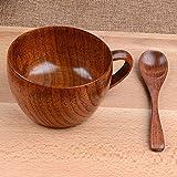 Tasses en bois naturelles de tasse de barre de 260ml / 8.8 once...